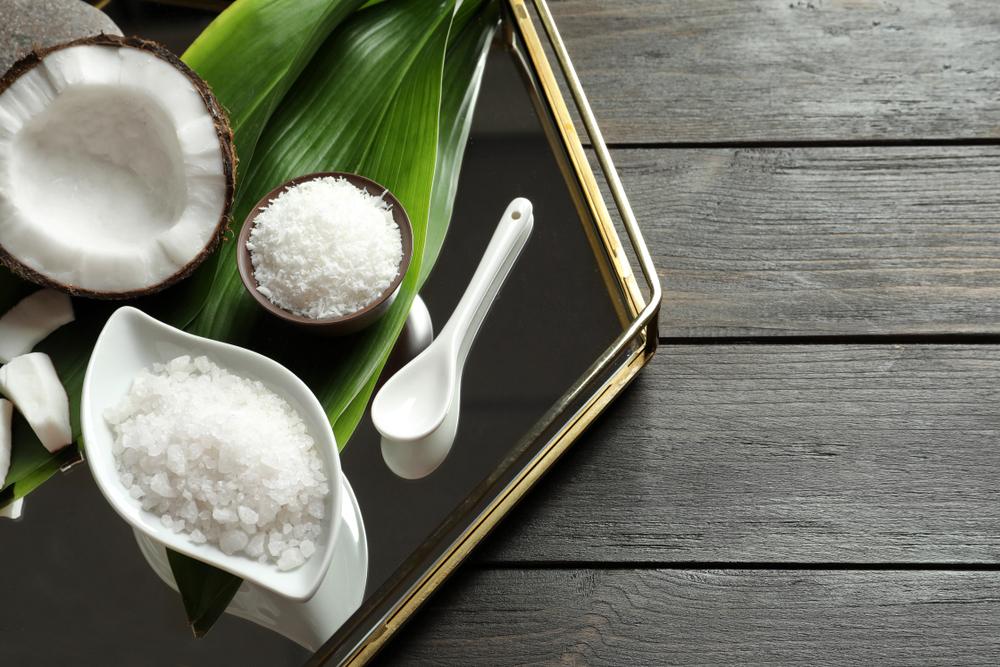 natural ingredients on metal tray